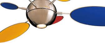 Multi Colored Ceiling Fans by Minka Aire 54 Inch Brushed Nickel Multi Color Cirque Ceiling Fan