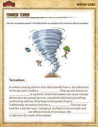 tornado terror u2013 free earth science worksheet for 4th grade