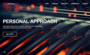 flame a free bootstrap one page template for any website