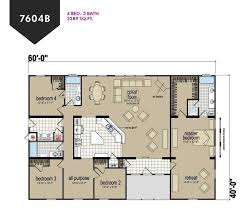 4 bed floor plans pine ridge 4 bed 3 bath 2289 sqft affordable home for 119900