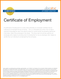 Additional Information Examples 9 Work Certificate Examples Mystock Clerk