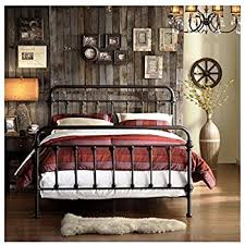 Iron Frame Beds Vintage Metal Bed Frame Antique Rustic Bronze