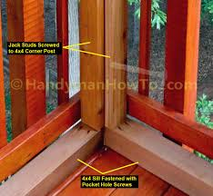 How To Replace Rotted Window Sill How To Install 4x4 Framing For Eze Breeze Porch Windows