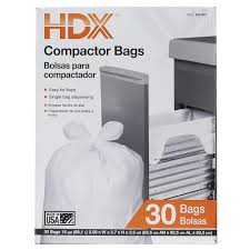 Trash Compactors by Hdx 18 Gal Compactor White Trash Bags 30 Count Hdx 959933 The