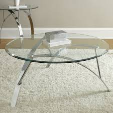 Glass Top Coffee Table With Metal Base Steve Silver Xavier 3 Piece Glass Top Coffee Table Set W Chrome