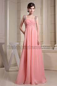 coral long bridesmaid dresses vosoi com