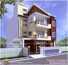 60 sq feet apartments three storied story house plan and elevation sq ft