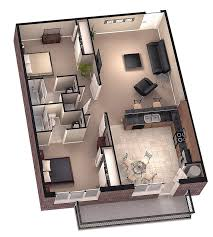 One Bedroom Apartment Designs 2 Bedroom House Plans 3d Google Search House Plans Pinterest