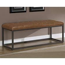 Wood Bench With Metal Legs Industrial Rustic Acacia Wood And Metal 44 Inch Accent Dining
