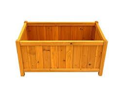 amazon com leisure season pb20012 rectangular planter box