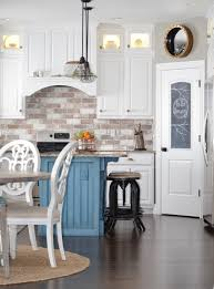 white kitchen with backsplash do it yourself brick veneer backsplash remington avenue