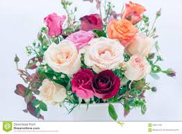 Beautiful Flower Arrangements by Beautiful Flower Bouquet With Roses And Heart In Vase Royalty Free