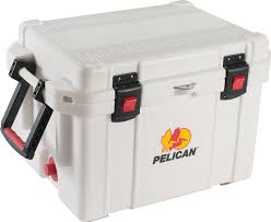 Stainless Steel Ice Chest On Wheels Costco by Amazon Com Pelican Progear 32 35q Mc Wht 35 Qt Elite Cooler