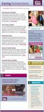 sample company newsletter sample caring connections email