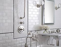 mirrored subway tiles bathroom vanity decoration