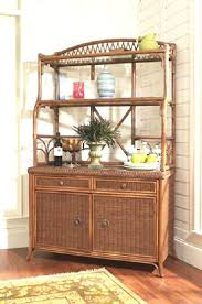 Bakers Racks With Drawers Bakers Rack In Rattan And Wicker By Classic Rattan 7430