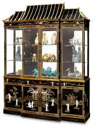 china furniture and arts black lacquer pagoda china cabinet
