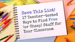 17 teacher tested ways to find free or cheap stuff for your