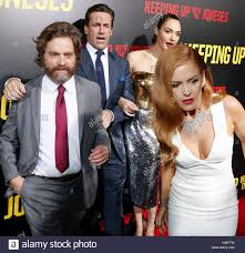 Keeping Up With The Joneses Zach Galifianakis Isla Fisher Jon Hamm And Gal Gadot At The Los