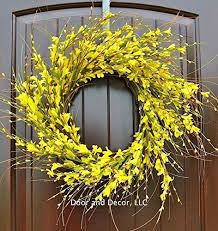 forsythia wreath handmade yellow forsythia wreath in 22 inch diameter