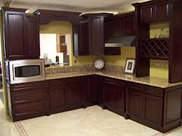 Kitchen Design Oak Cabinets L Shaped Design Oak Cabinet Brown Plaid Tiles Backsplash Classic