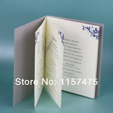 customized wedding programs hi9002 customized wedding programs order of service with ribbon in