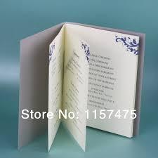 customized wedding programs aliexpress buy hi9002 customized wedding programs order of