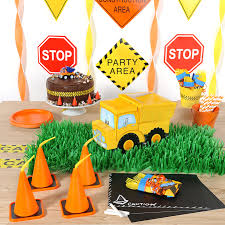 Construction Themed Centerpieces by Construction Pals Birthday Party Birthday Express
