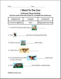 ela reading cloze worksheets page 1 abcteach