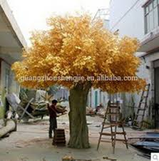 sjh081954 cheap artificial trees yellow leaf plastic ficus tree