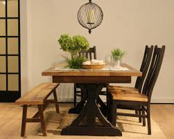 Solid Top Dining Table by Reclaimed Barnwood Amish Dining Or Kitchen Table Croft Extendable