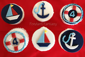 nautical cake toppers nautical cupcake toppers