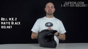flat black motocross helmet bell mx 2 matte black helmet review jafrum com youtube