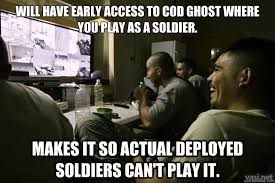 Funny Cod Memes - will have early access to cod ghost where you play as a soldier