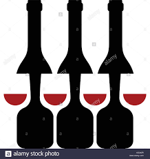 wine silhouette wine glass bottle stock vector images alamy