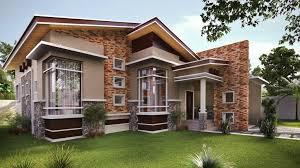 single story modern house plans single story modern bungalow house modern house plan