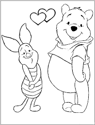 winnie the pooh valentines day winnie the pooh coloring pages to baby coloring pages