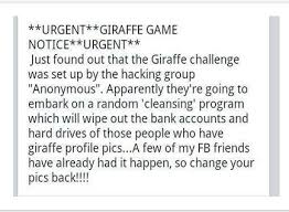 Challenge Hoax Hoax Alert Anonymous Hackers Wipe Drives Of Giraffe Riddle Users