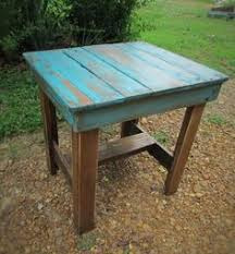 Distressed Coffee Tables by Free Shipping Rustic Distressed Coffee Table With Turquoise Color