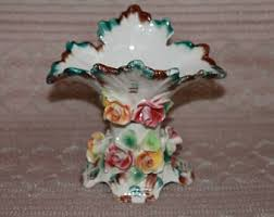Capodimonte Vases Antique Capodimonte Italy Etsy