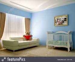 Baby Room Interior by Illustration Of Blue Baby Room