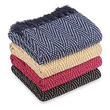 Throw Rugs Bed Bath And Beyond Multi Colored Chevron Knitted Throws Bed Bath U0026 Beyond