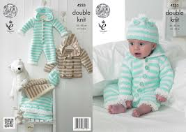 Knitted Cushion Cover Patterns Baby Knitting Pattern King Cole Dk Jumpsuit Coat Hat Blanket