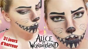 cheshire cat halloween makeup tutorial disney inspired youtube