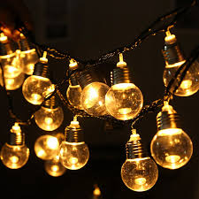Light Bulb String Outdoor 20 Bulbs String Lights Shape Vintage Indoor Outdoor L