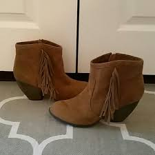 Brown Fringe Ankle Boots Mossimo Supply Co Fringe Ankle Boots Booties 9 5 From Melissa U0027s