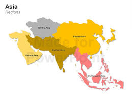regional map of asia asia powerpoint map editable ppt