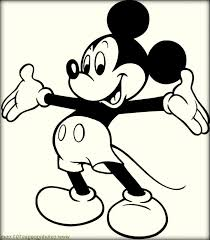 printable mickey mouse coloring pages color zini