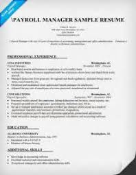 payroll manager resume paragraph style resume sles cover letter for an