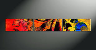 wall decor home decor 3 piece canvas wall art abstract large